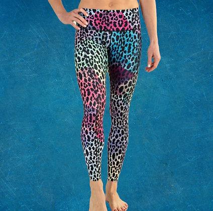 Estrid Gym Leggings - Techno Leopard