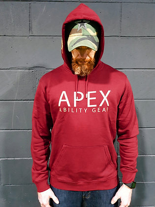 The Brave Trooper Hoodie - Burgundy & Gold