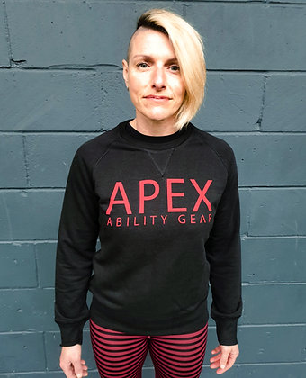 Polaris Print Sweatshirt - Black & Red