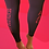 Thumbnail: Telva Gym Legging - Black & Red