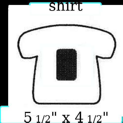 "Shirt 5 1/2"" x 4 1/2"""