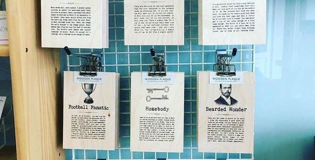 A6 Plywood plaques plaques