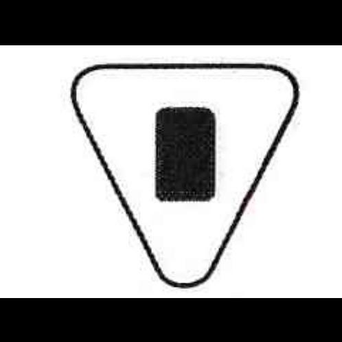 "Triangle 4 1/2"" x 4 1/2"""