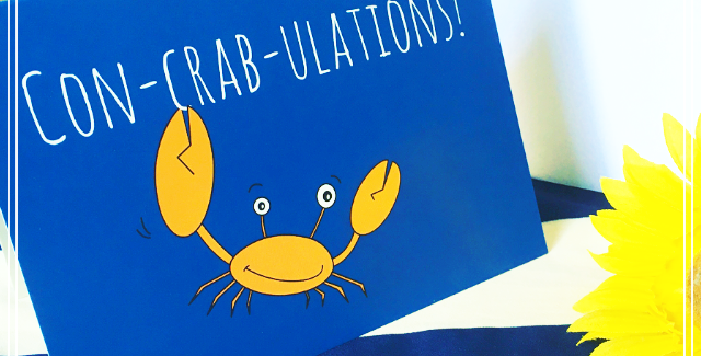Con-crab-ulations! Card