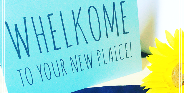 Whelkome to your new plaice! Card