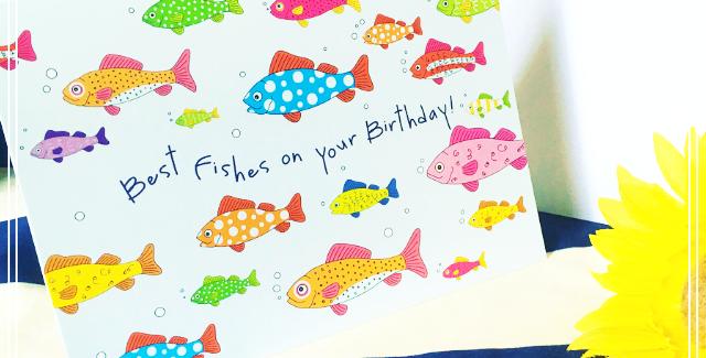 Best Fishes on your Birthday! Card