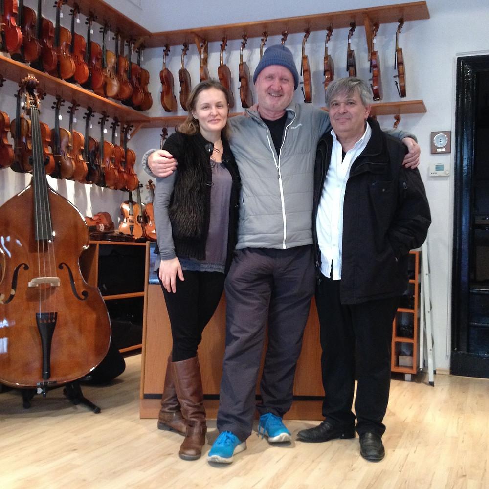 Elena Platon, Mark John McEncroe and Anthony Armore in Vienna