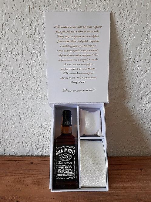 Convite Casal de Padrinhos 2113W Branco
