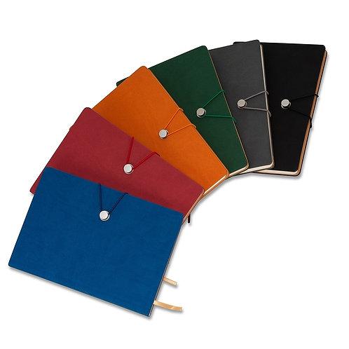 Caderneta Tipo Moleskine com Fecho - DS18519