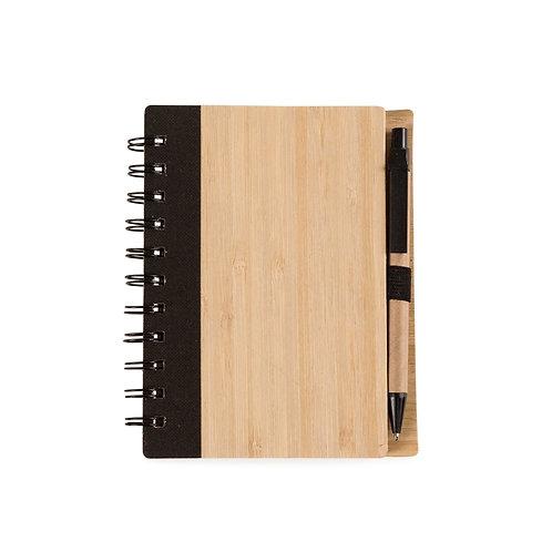 Bloco de Anotações Bambu com Caneta - DS13775
