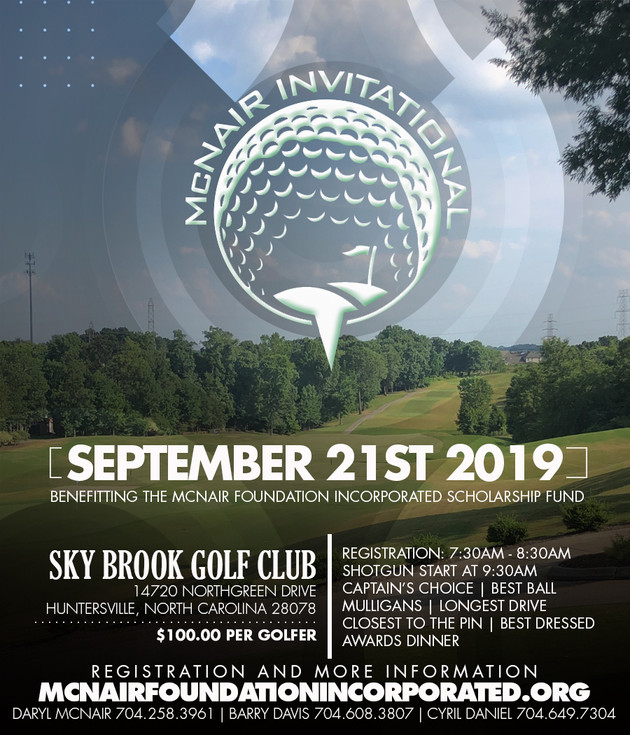 The Inaugural McNair Foundation Invitational Golf Tournament