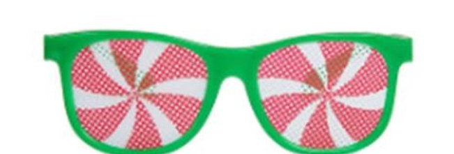 Red or Green Party Glasses (Pack of 5)