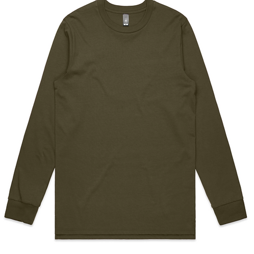MENS BASE L/S TEE (printed & folded)