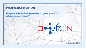 AFRAN NSW webinar: 5 years after the Paris Agreement: Green Growth, a Solution or an Oxymoron?