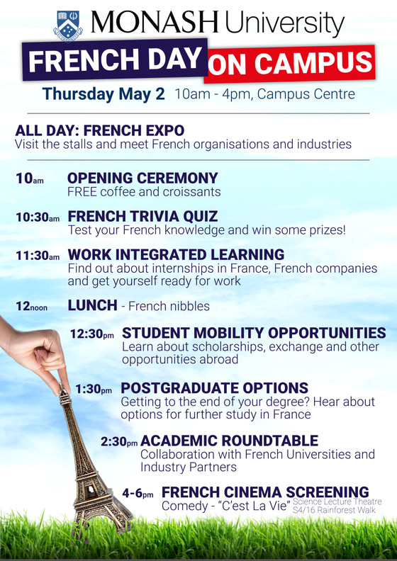 French Day on Campus at Monash University