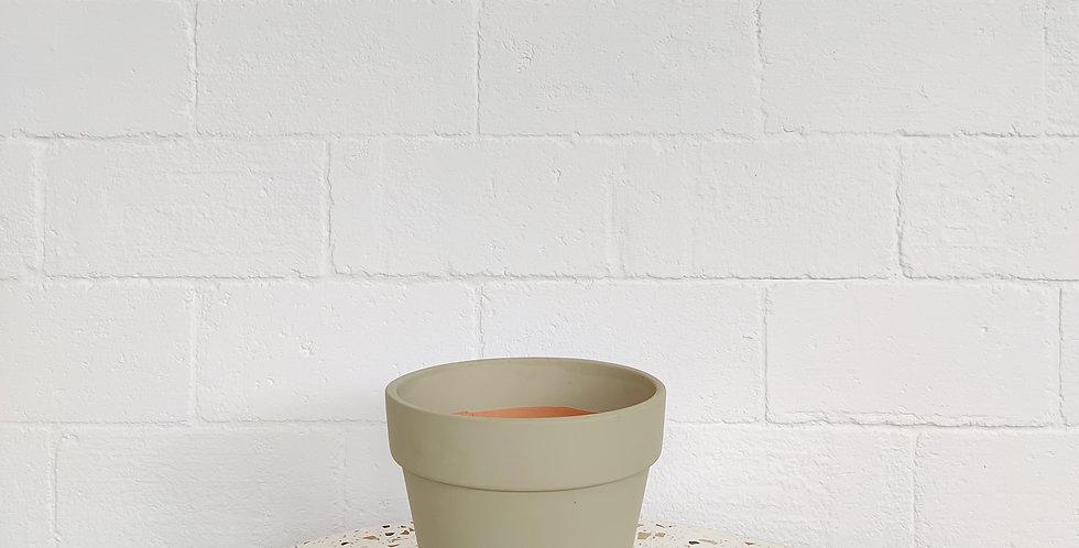 Terracotta Pot in Warm Grey