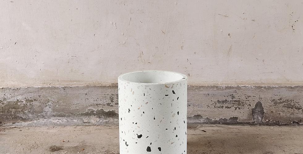 White Terrazzo Pot