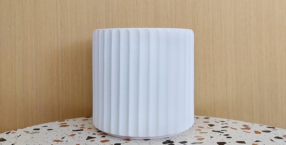 White Striped Ceramic Pot