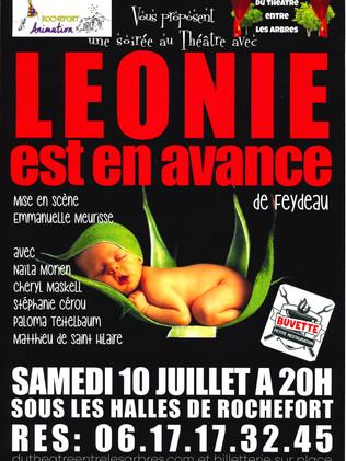 THEATRE - LEONIE EST EN AVANCE  10/07/2021 - 20H00 SOUS LES HALLLS DE ROCHEFORT MONTAGNE