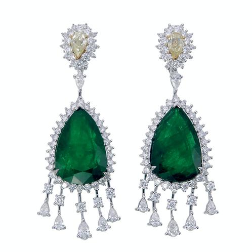 Emerald Princess Earring