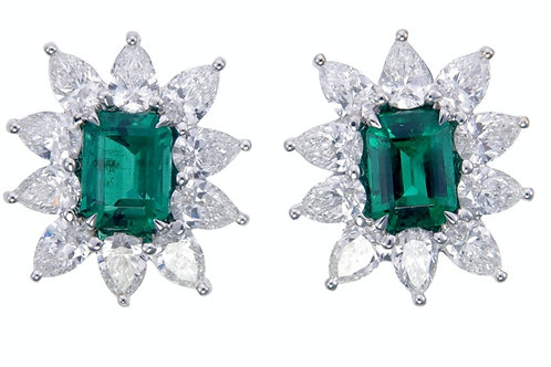 Emerald Solitaire Earring