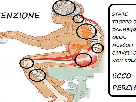 Come la vita sedentaria uccide muscoli, organi, ossa e cervello