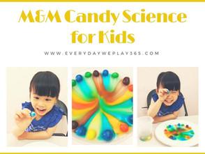 M&M巧克力食用色素遊戲 - 兒童化學