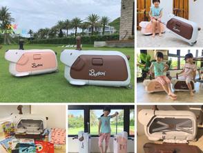 旅行箱&滑步車二合一!韓國Bontoy Traveller紅點設計大獎兒童騎乘行李箱 鼓勵獨立自主 孩子出門好拉風
