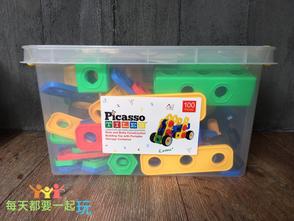【工程類】結合工程力學與美學平衡的專業教具Picasso Tiles美國畢卡索STEM+A螺母工匠積木組
