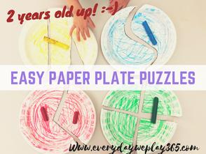 簡易自製幼兒紙盤拼圖 - 幼兒數學(邏輯分類)