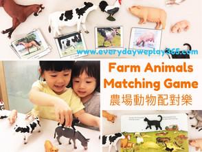 農場動物配對樂遊戲 - 幼兒生物 / 語言