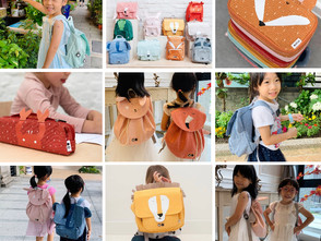 【可同時裝A4與水壺超輕巧】比利時100%有機棉Trixie兒童收納包系列 可愛動物造型寶貝好拉風