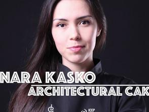 烏克蘭女甜點師迪娜拉.卡思科 用3D列印融合幾何與藝術打造『建築派』蛋糕