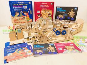 揭開印度人數理好的秘密:世界頂尖印度理工學院研發《Smartivity兒童創客自造機》STEM精神動手玩 (吃角子老虎/機器人賽車/骨牌效應篇)
