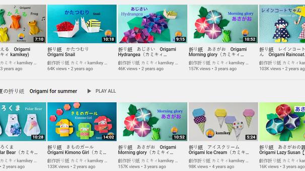 免費育兒好幫手:日本Kamikey摺紙頻道 札幌技藝職人傳承上百種摺紙教學