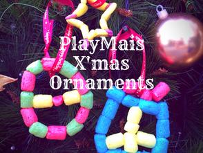 玉米黏土聖誕吊飾 - 幼兒數學