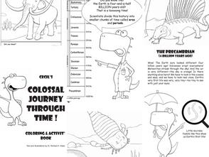 美國康乃爾大學古生物學研究機構 免費分享52頁《恐龍簡史兒童著色畫》全冊下載