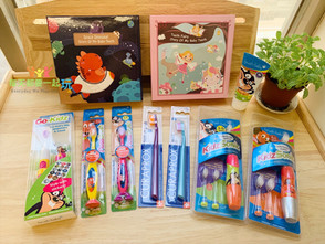 【開學盥洗好物】英國Brush-Baby聲波電動牙刷&可愛乳牙收藏盒&瑞士Curaprox頂級細絲牙刷 建立孩子潔牙好習慣