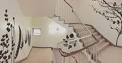 階段リノベーション・壁画
