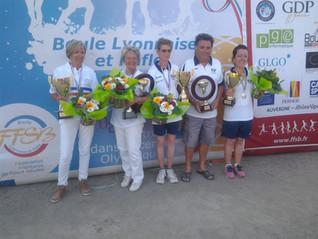 Mme Favre Amparo, Mme Termignon Josiane championnes de France 2018