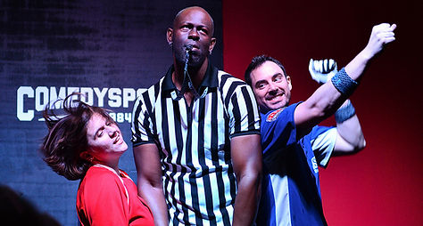 A picture from a ComedySportz match