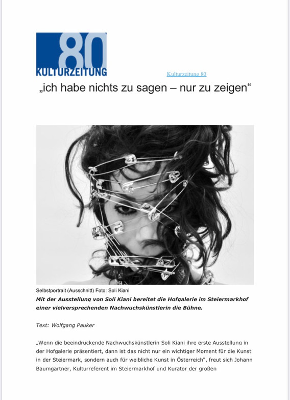 kulturzeitschrift 80. 09/2020