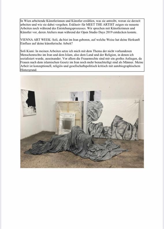 vienna art week. meet the artist. interview. 2020