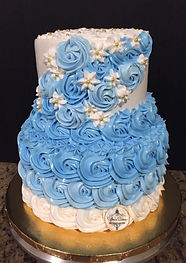 Blue Rosetts Dress Cake.jpeg