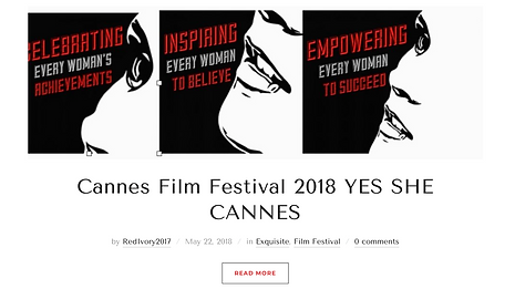 Yes She Cannes SHE SQUAD launch Faith Elizabeth Wildcat Bergen Brand Kaszluv American Pavillion Cannes Film Festival