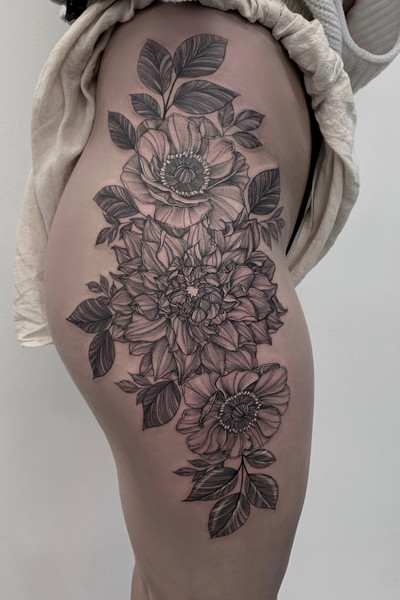 Dahlia & Anemone Flowers 🌸