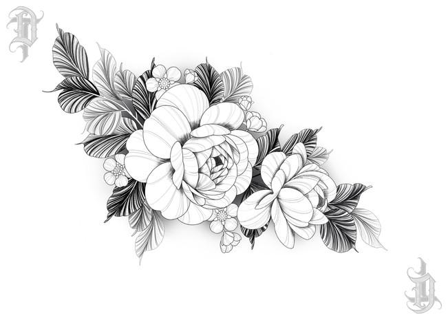 Peonies & Manuka Flowers