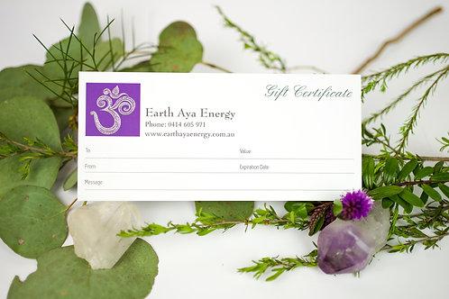 Reiki Gift Certificate