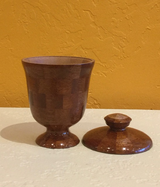 Wooden Vessel #24 with lid
