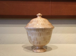 Wooden vessel #30 with lid